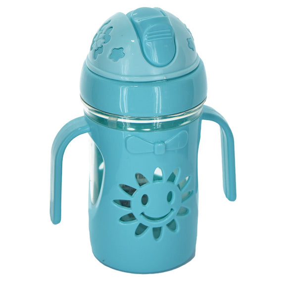 Sunflower Baby Plastic 300ml Bottle With Straw Nipple