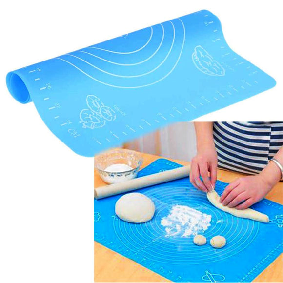 Silicone Non-Stick Kitchen Baking Fondant Pastry Mat ( 20 X 16 inches) ( Random Color )