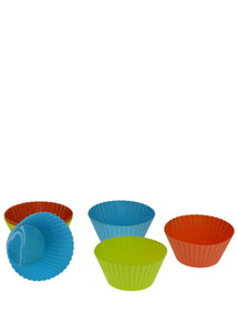 Multi-color 6 Pcs Round Silicon 2.5 x 2.5 Cupcake Moulds