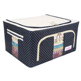 Multi Purpose Extra-Large Size (100-Liters)  Foldable Storage Box ( Random Colors & Designs )