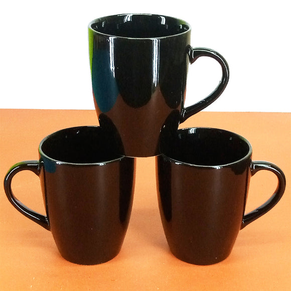 Pack Of 6pcs Large Size 270ml Black Ceramic Mug Set