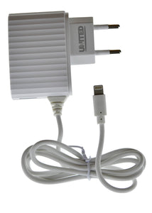 United Iphone & iOS 4.1 Ampere Fast Charging US-Z10i Iphone Charger (With 1 Extra USB Port)
