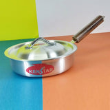 Kenstar 24cm Aluminium Silver Frying Pan High Depth With Lid