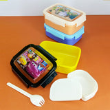 Appollo Plastic Kids Lunch-Box With Fork & Salad Box