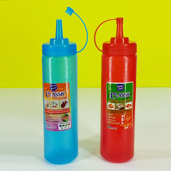 Classic Ideal Chef 600ml Squeez Ketchup & Mayo Plastic Bottle ( Random Colors )
