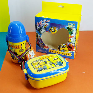 Set Of 2pcs Kids' Lunch-Box & Water Cooler