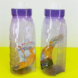 Pack Of 2pcs Mustang Edge Plastic 1500ml Fridge Water Bottles ( Random Colors )
