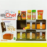 Home Chef Convertible Adjustable Plastic Crystal Spices Rack