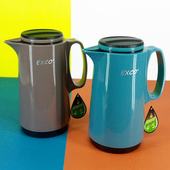 Exco 1-Litre Tea &  Coffee Thermal Flask Inside Glass