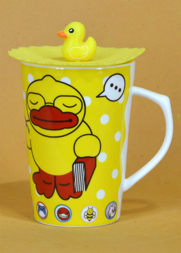 Yellow Duck Mug With Air Tight Silicon Lid
