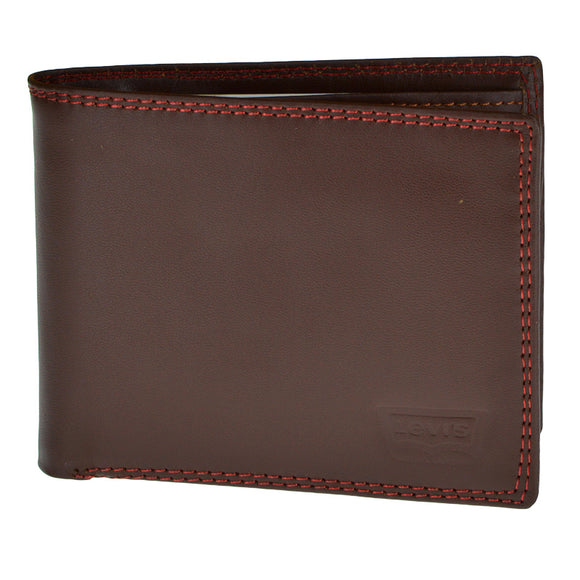 Levi's Dark Bown Leather Wallet For Men