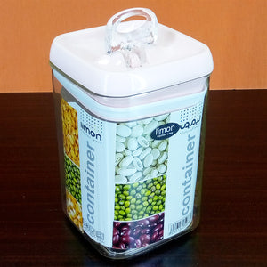 Limon Super Air-Tight 1.4-Litre Acrylic Plastic Jar ( Random Color )