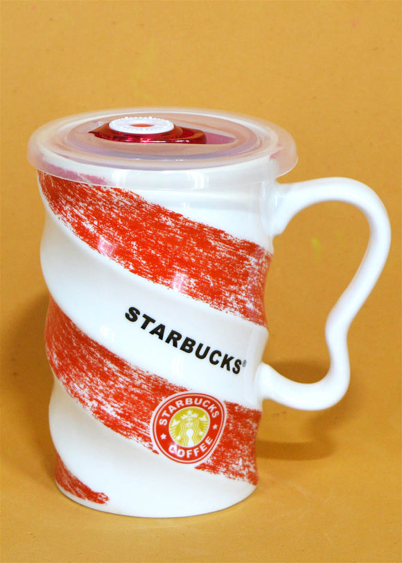 Starbucks Ceramic Mug With Air Tight Plastic Lid