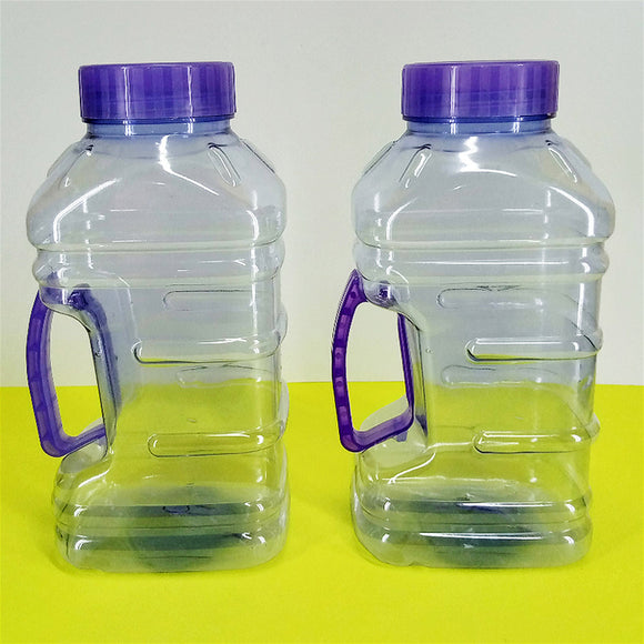 Pack Of 2pcs Malta Transparent Plastic 2.25 Liter Fridge Water Bottle Set ( Random Colors )