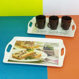 Printed Medium Size Melamine 14 X 9 inches Serving Tray