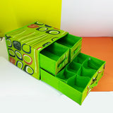 Multi-Purpose Foldable Medium-Size Draw Closet Grid & Pocket Organizer