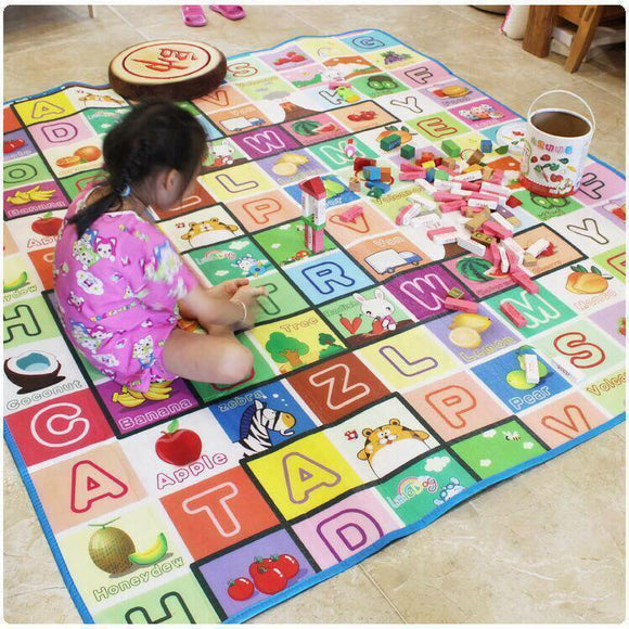 Kids Baby 150cm X 180cm Play & Crawl Mat Re-Washable Water-Proof ( Random Designs )