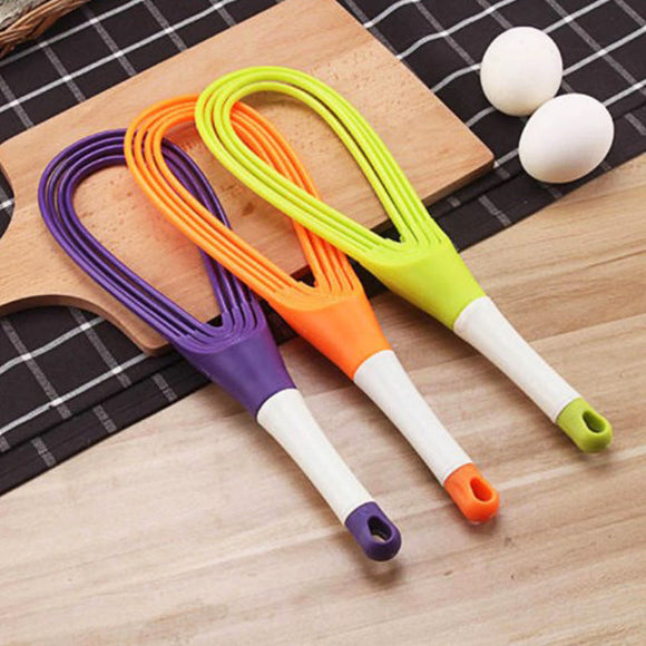 Foldable Plastic Egg Beater (Mix Colors)