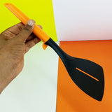 Non-Stick Plastic Medium-Size Flat Spatula ( Random Colors )