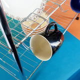 Silver Coated Metal 4-Layer Dishes & Plates Organizing Rack
