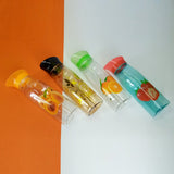 Flora Plastic 900ml Printed Pet Kitchen Oil Bottle ( Random Colors )