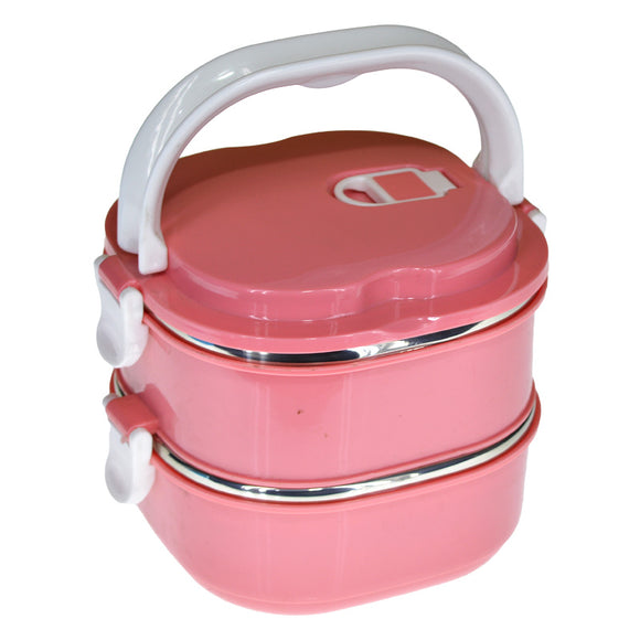 Dondonka 2-Layered 1700ml Stainless Steel Lunch / Tiffin Box