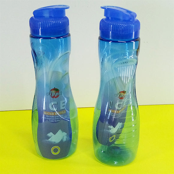 Pack Of 2pcs Apple Ice Transparent Plastic One Litre Fridge Water Bottles