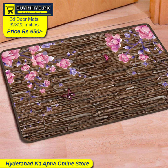 3D Soft China Velvet Door / Foot Mat 32 X 20 inches