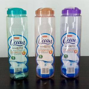 Ocean Transparent Plastic 1 Litres Fridge Water Bottle