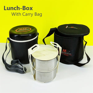 Appollo MAc Medium Size Tiffin Box With Carrying Zipper Bag (For One Person Serving)