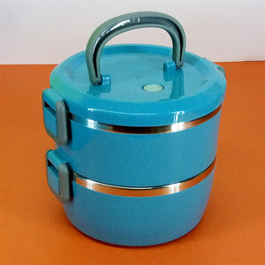 2-Layered 1700ml Stainless Steel Lunch / Tiffin Box
