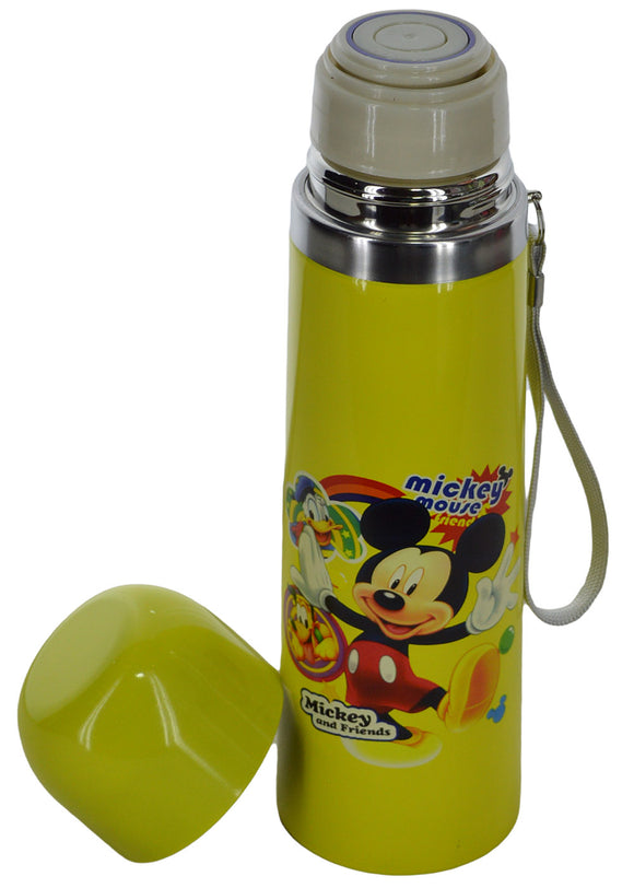 Mickey Yellow Stainless Steel 500ml Water Bottle