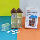 Omega Hut-Shape Masala & Spices Storage Rack With Spoons