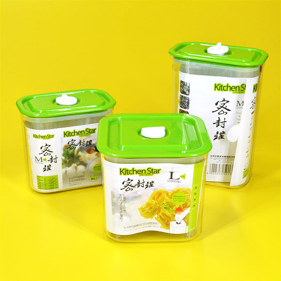 Kitchen Star 3pcs Acrylic Plastic Air-Tight Storage Jar Set