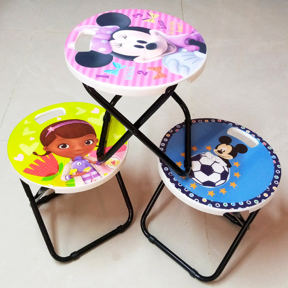 Small Size Kids' Character Foldable Stool