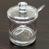 Acrylic Imported Quality Transparent Plastic Sugar Pot With Spoon