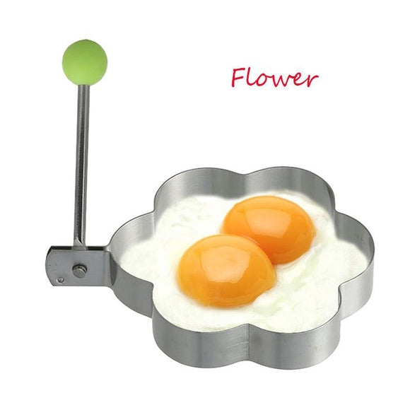 Stainless Steel Flower Shape Egg Making Mould