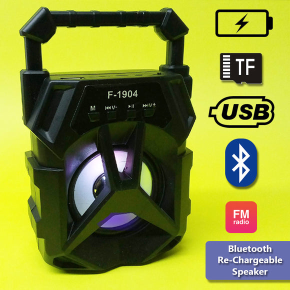 Portable 1200mAh Bluetooth Speaker With LED Light