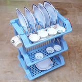 Ideal Plastic 3-Layer Dishes & Plates Organizing Rack