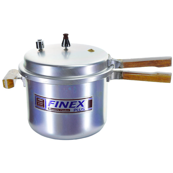 Finex Silver Pressure Cooker (13-Liters) With Wooden Handle