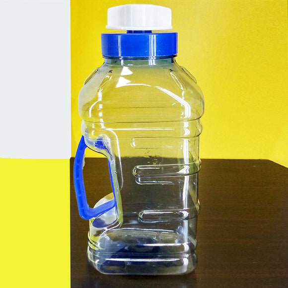 Malta Transparent Plastic 2.25 Litres Large Size Fridge Water Bottle ( Random Colors )