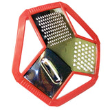 3-Sided Round Shield Style Kitchen Grater & Slicer ( Random Colors)