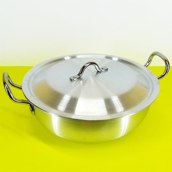 Brite 32cm Silver Karahi With Top Cover