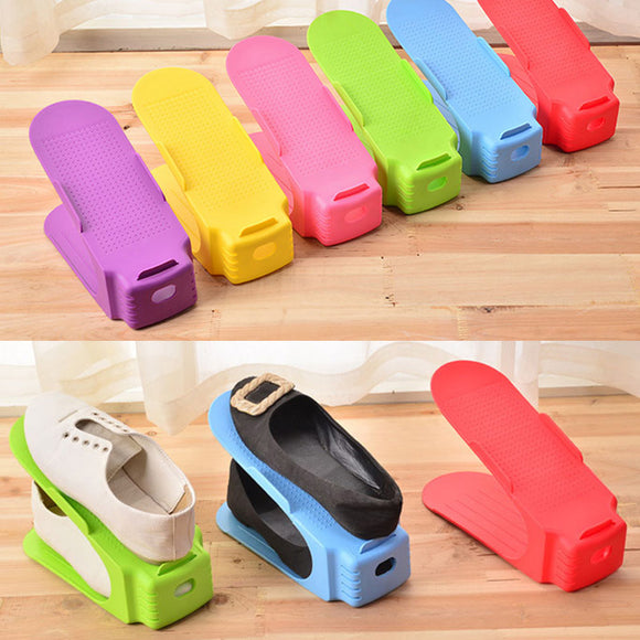 Double-layer Plastic Shoe Frame Simple Shoe Holder Organizer