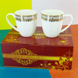 Pack Of 6 Large Size 250ml Imported Bone China High Quality Extra Glossy Mugs