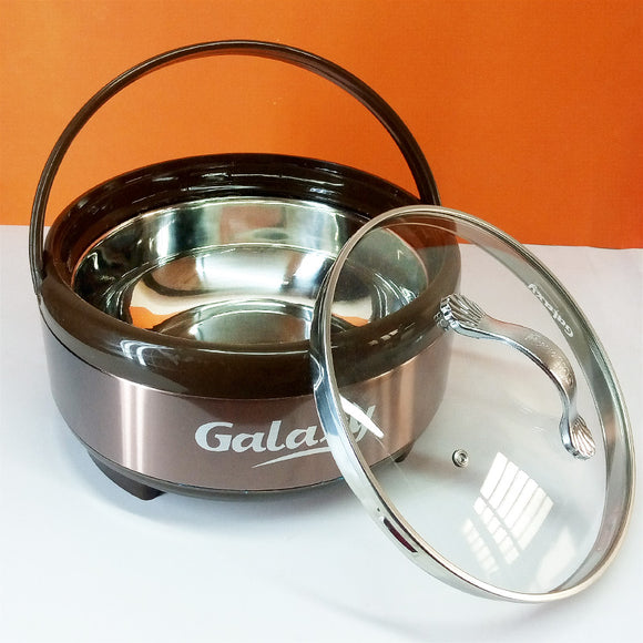 Galaxy Large-Size Stainless Steel Roti Hot-Pot With Glass Lid