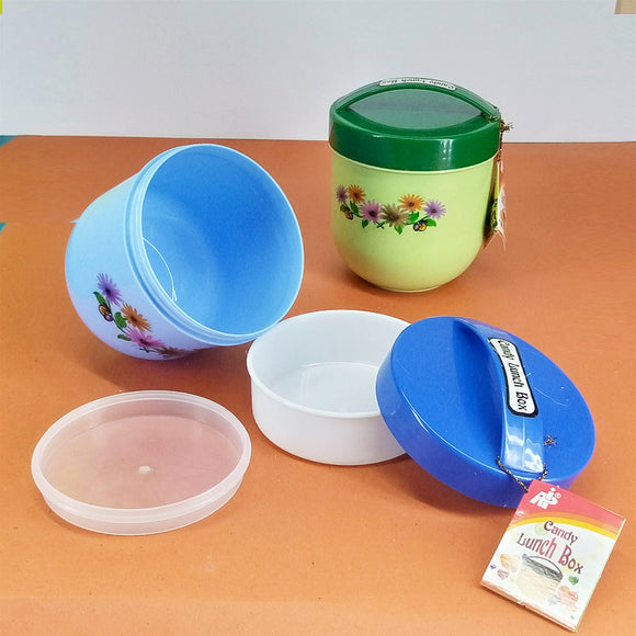 API Small Size 2-Partition Carry Plastic Lunch Box