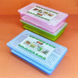 Modern Multi-Purpose Plastic Cutlery Storage Box Container Case With Transparent Cover