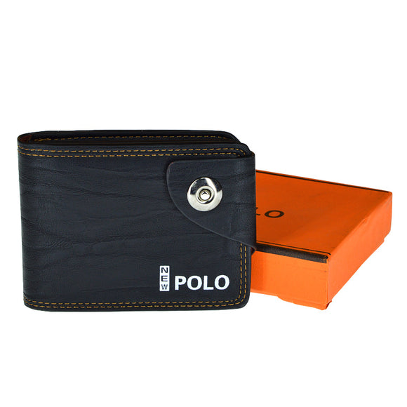 Polo Fashion Front Button Leather Wallet For Men