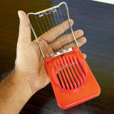 Plastic Egg Slicer With Stainless Steel Threads